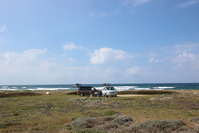 1 Tag Wildcamp Strand