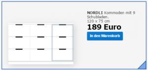 Nordli 3 Schubladen