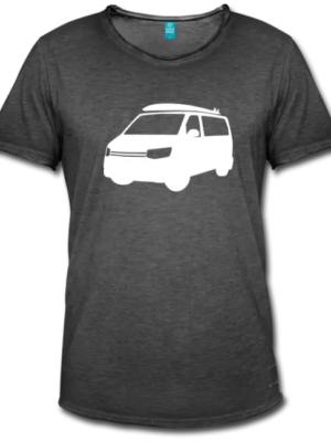 VW T5 Bulli T-Shirt Dunkel Grau
