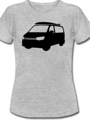 VW T5 Bulli T-Shirt Grau