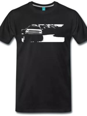 VW T5 Bulli Gebirge T-Shirt Schwarz
